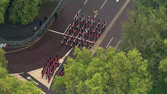 Aerials over Westminster ahead of The Queen's Speech