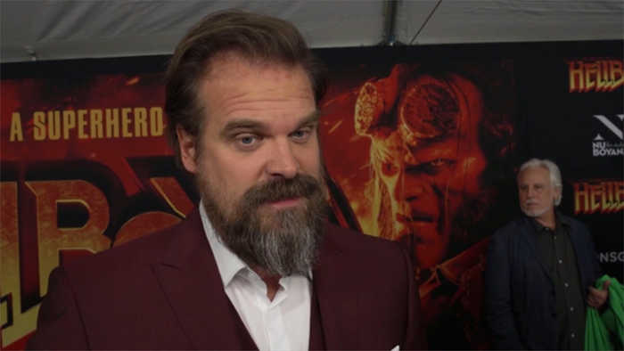 David Harbour and Lily Allen confirm romance with passionate kiss