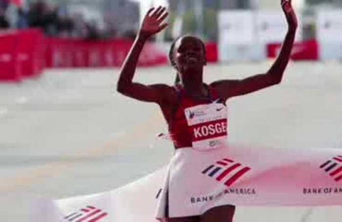 Kenyan Kosgei shatters women's marathon record