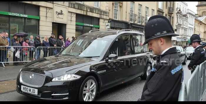 Hundreds in attendance of police officer Andrew Harper's funeral procession in Oxford