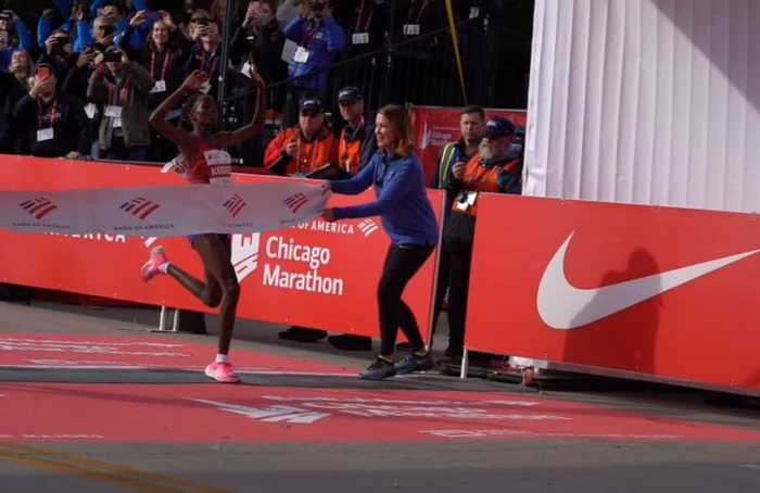 Brigid Kosgei smashes women's marathon world record