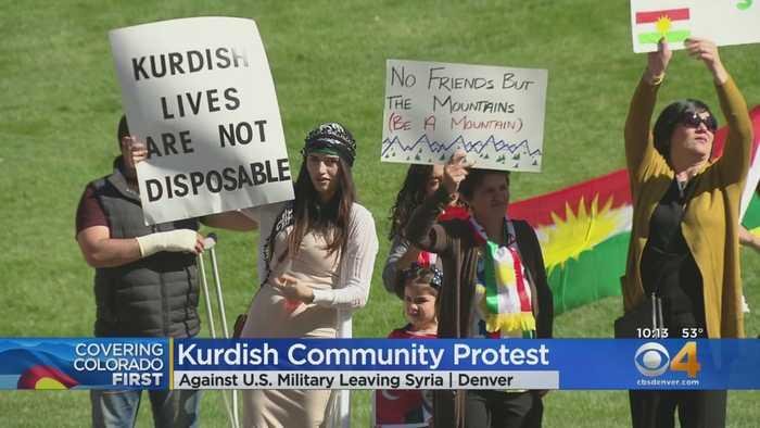 Protesters Demonstrate Against U.S. Troops Leaving Syria
