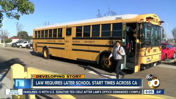 Newsom signs law requiring later school start times in California