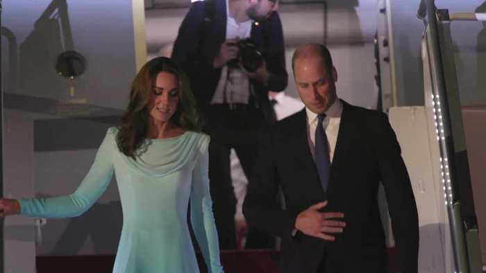 William and Kate arrive in Pakistan for five-day visit