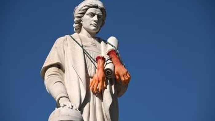 Christopher Columbus statue at Inner Harbor