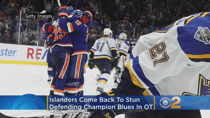 Islanders Come Back From The Dead, Then Stun Defending Cup Champion Blues In Overtime