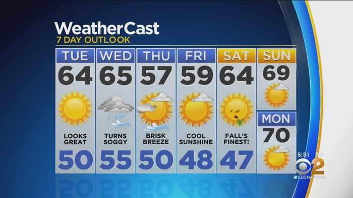 New York Weather: CBS2 10/14 Evening Forecast at 5PM