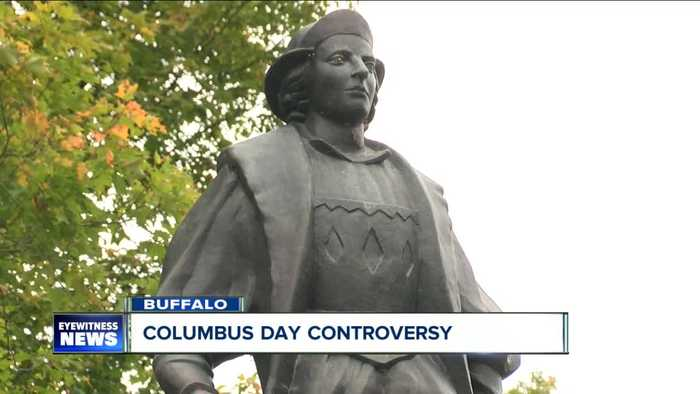 Protest held in Columbus Park amid annual Columbus Day controversy