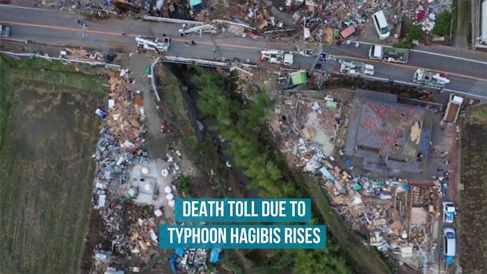 Death toll due to Typhoon Hagibis rises