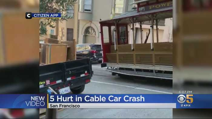 5 Hospitalized After Cable Car Collision In San Francisco's Nob Hill