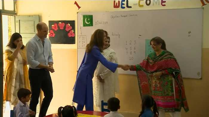 Prince William And Kate Middleton Visit School In Pakistan