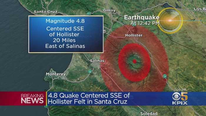 Magnitude 4.8 Earthquake Strikes South Of Hollister
