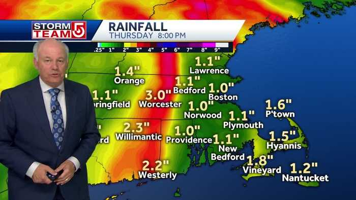 Video: Storm likely to bring 1-3 inches of rain