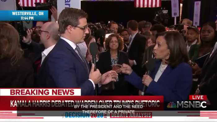 Kamala Harris tells MSNBC Chris Hayes she wants to ban Trump from Twitter