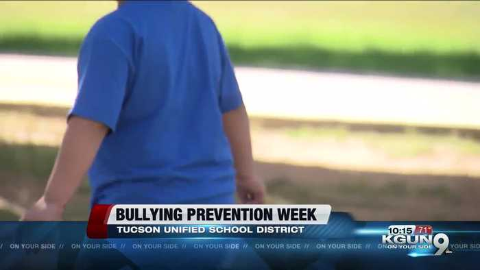Students at Wheeler Elementary wear blue for bullying prevention week