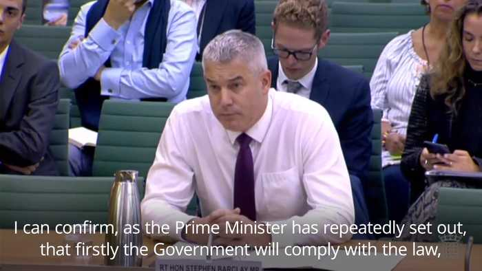 Stephen Barclay confirms Prime Minister would request Brexit delay if no deal in place