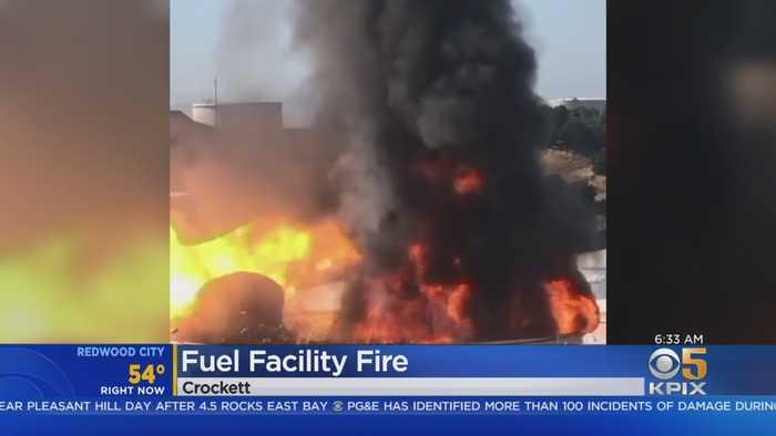 Investigation Underway Into Massive Fire At Fuel Facility In Crockett