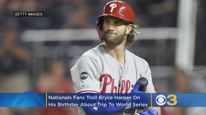 Nationals Fans Troll Bryce Harper As They Celebrate Heading To World Series Without Him On His Birthday