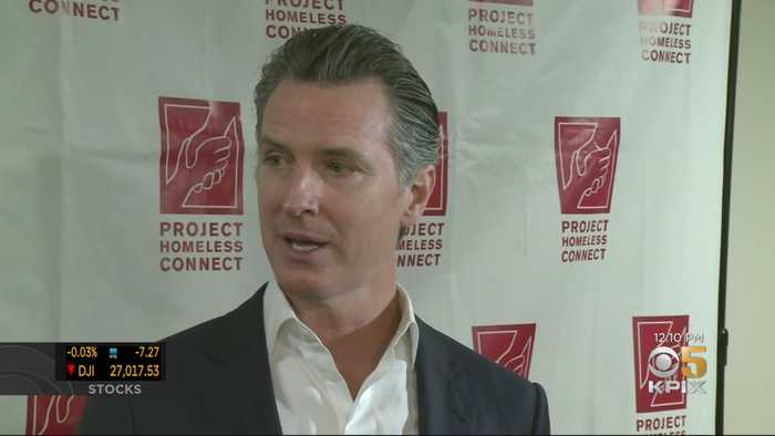 Governor Appears At Annual Project Homeless Connect Event In San Francisco