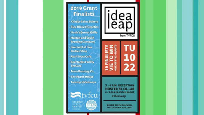 TVFCU Idea Leap Grant Pitch Night, Tuesday, October 22nd 6:00pm, Bessie Smith Hall