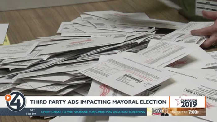 Third-party ads impacting mayoral election