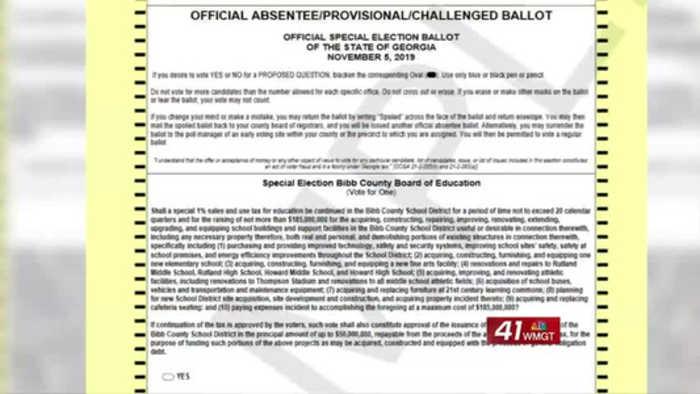 Bibb County School District E-SPLOST on November ballot