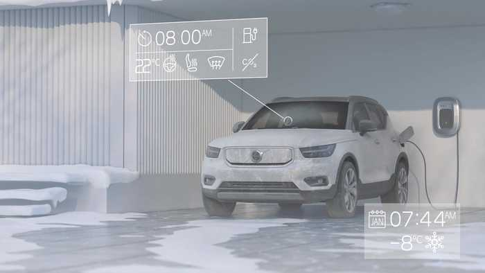 Volvo XC40 Recharge Precondition Animation
