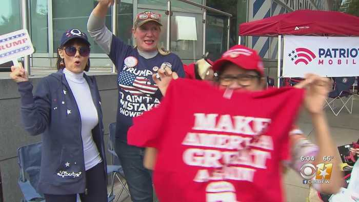 President Trump Supporters Camping Outside AAC In Anticipation Of Thursday Rally