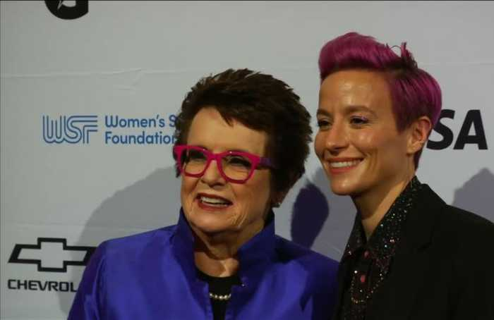 Rapinoe arrives at glitzy Annual Salute to Women in Sports night