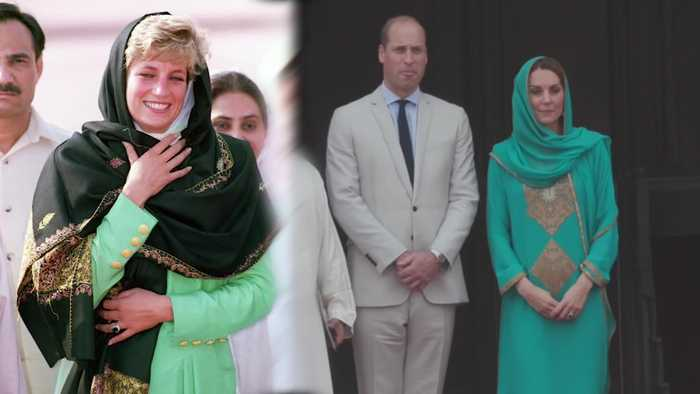 Kate's headscarf revives memories of Diana's visit to Lahore landmark