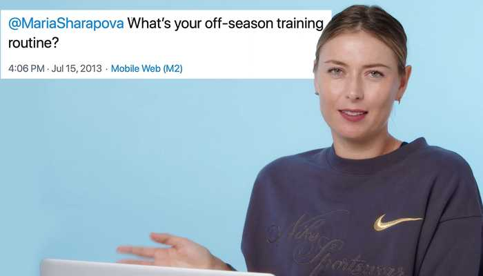 Maria Sharapova Goes Undercover on Reddit, YouTube and Twitter