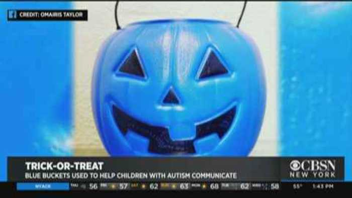 Blue Pumpkin Candy Buckets Aim To Raise Awareness Of Autistic Trick-Or-Treaters