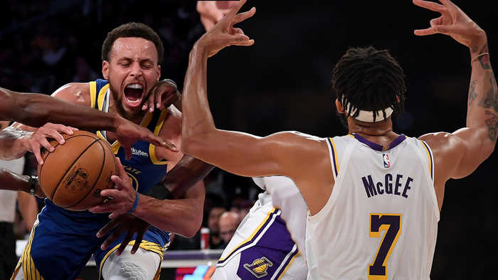 JaVale McGee FAKES Injury To Get Open For Dunk As Lakers EMBARRASS Warriors In Preseason Game