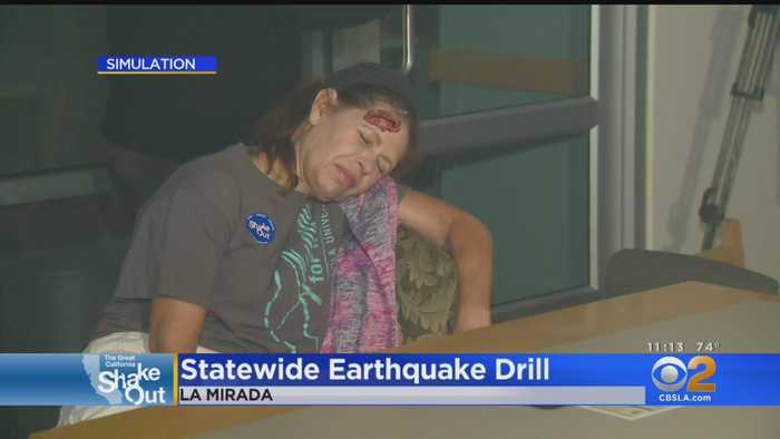 Californians Drop, Cover And Hold On For Annual Earthquake Drill