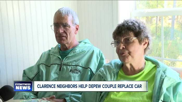 Neighborhood rallies to buy car for couple who delivers papers to Clarence development