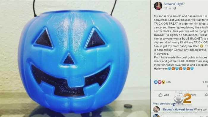 Blue Pumpkins Helping Autism Awareness On Halloween
