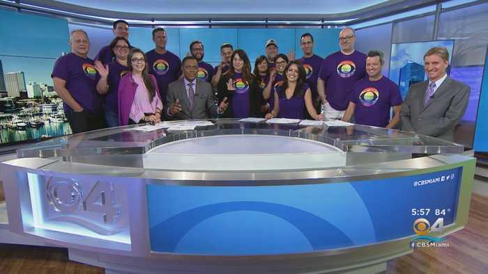 Purple-Clad CBS4 News Team Invades Studio For A Good Cause