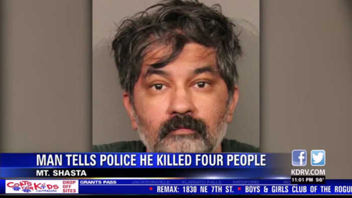 Police identify quadruple murder suspect who turned himself over to Mt. Shasta Police