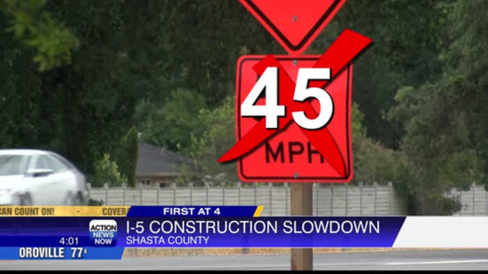 Caltrans reduces speed limit on I-5 from 55 to 45 mph