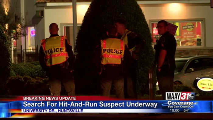 Search for hit-and-run suspect underway