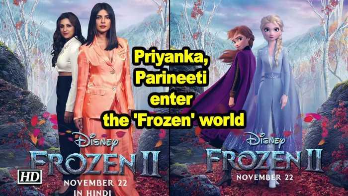 Priyanka, Parineeti enter the 'Frozen' world