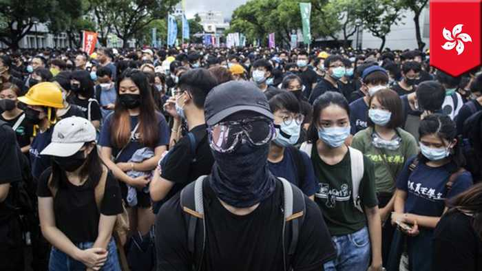 China bans exports of black clothing to Hong Kong