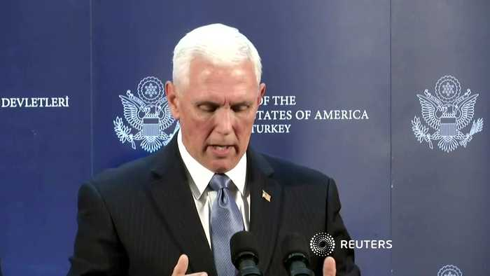 Turkey, U.S. agree ceasefire in northeast Syria - Pence