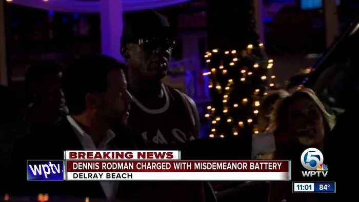 Dennis Rodman charged with battery for allegedly slapping man at Delray Beach bar