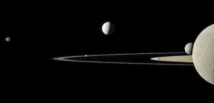 Five of Saturn's Moons Captured in One Stunning Shot