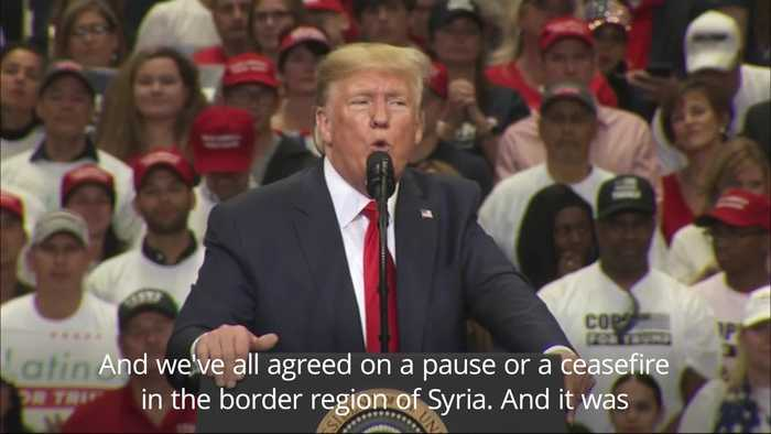 Trump speaks on Syria and Ukraine at Texas rally
