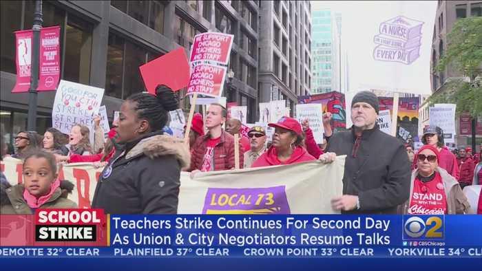 Chicago Teachers' Strike Enters Day 2