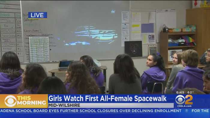 Girls At Mid-Wilshire School Watch First All-Female Spacewalk Live