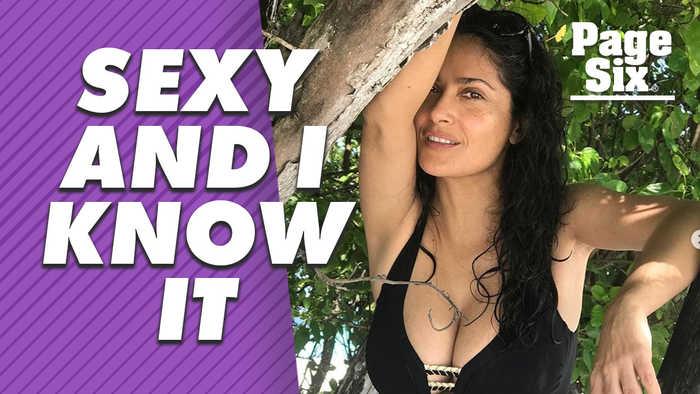 Salma Hayek's sexy bikini pictures prove 50s are hot