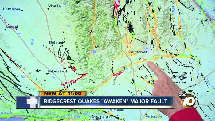 Major fault 'awaken' by series of Ridgecrest earthquakes